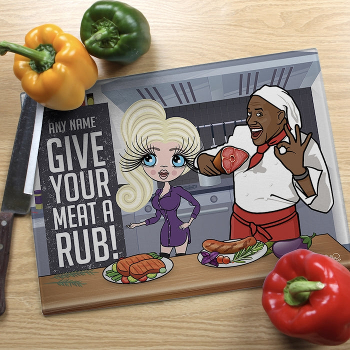 ClaireaBella Glass Chopping Board - Meat - Image 1