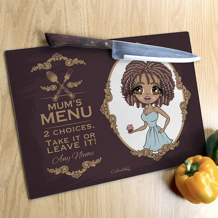 ClaireaBella Glass Chopping Board - Mum's Menu - Image 3