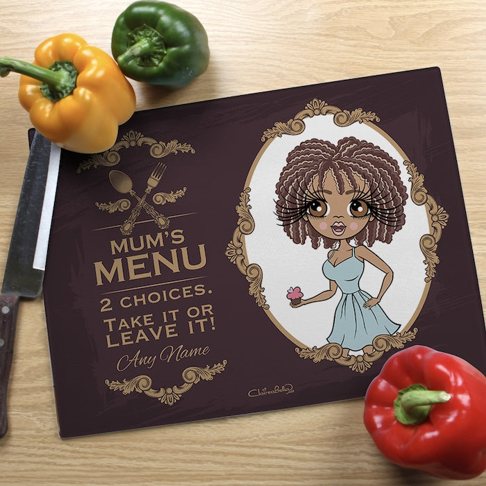 ClaireaBella Glass Chopping Board - Mum's Menu - Image 1