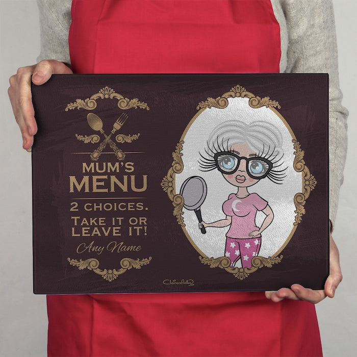ClaireaBella Glass Chopping Board - Mum's Menu - Image 2