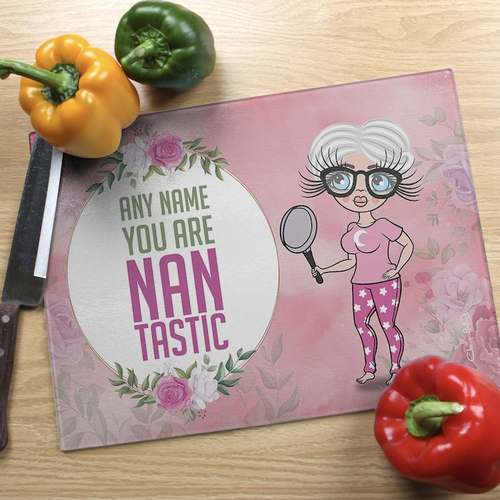 ClaireaBella Glass Chopping Board - Nantastic - Image 1