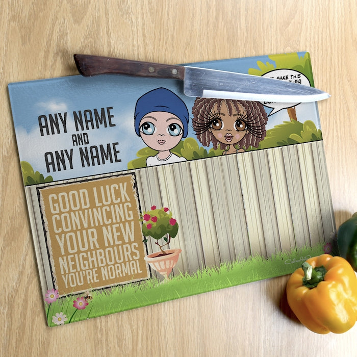 ClaireaBella Glass Chopping Board - Couples New Neighbours - Image 1