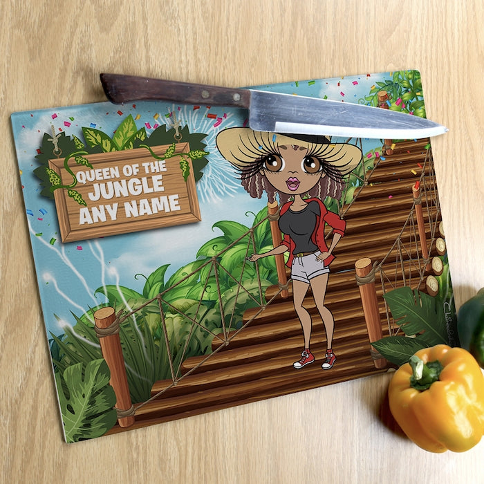 ClaireaBella Glass Chopping Board - Queen Of The Jungle - Image 2