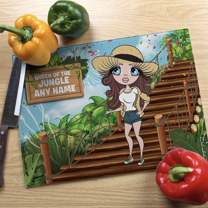 ClaireaBella Glass Chopping Board - Queen Of The Jungle - Image 3