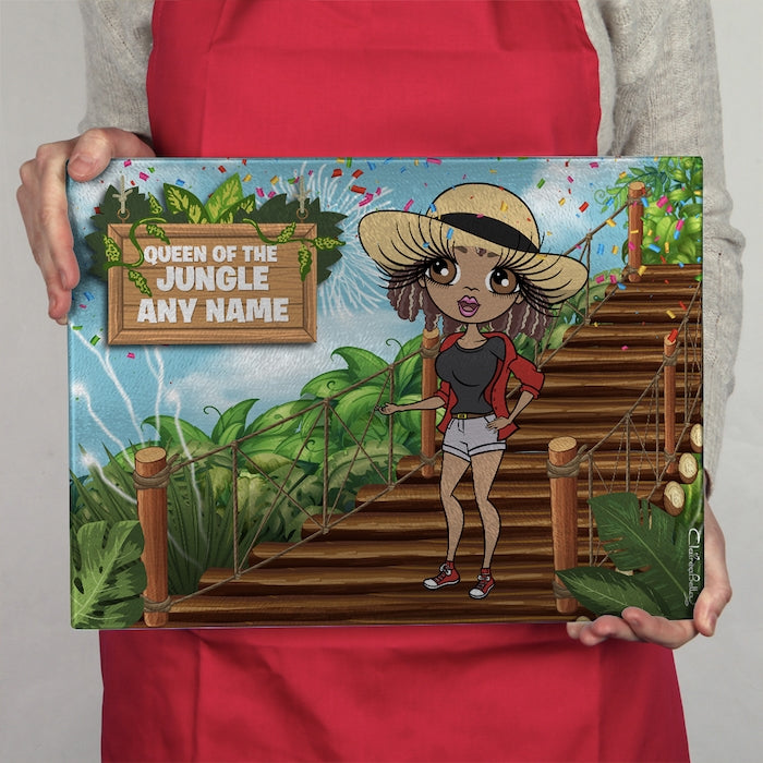 ClaireaBella Glass Chopping Board - Queen Of The Jungle - Image 1