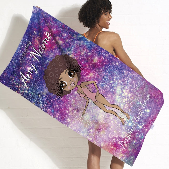 ClaireaBella Galaxy Sparkle Beach Towel - Image 1