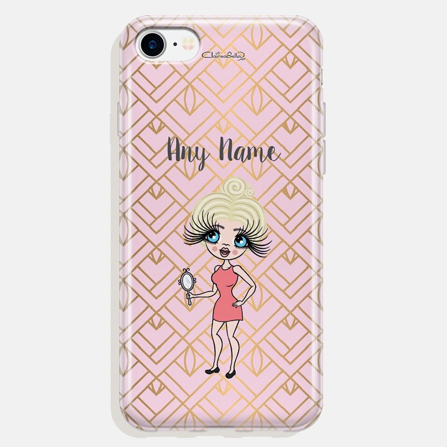 ClaireaBella Gold Geo Print Phone Case - Image 1
