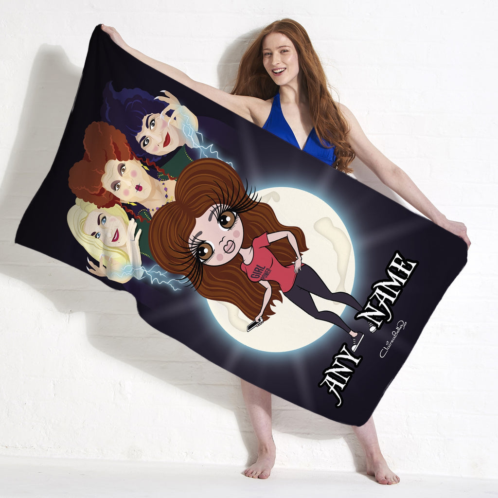 ClaireaBella Mischievous Witches Beach Towel - Image 1