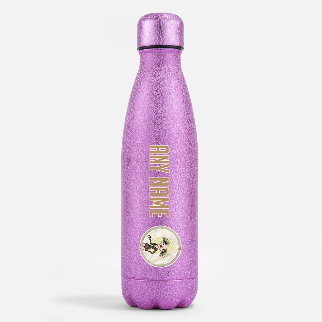 ClaireaBella Pink Glitter Water Bottle Marble - Image 1