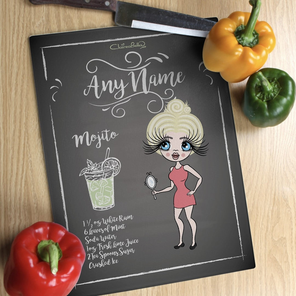 ClaireaBella Glass Chopping Board - Mojito Recipe - Image 1