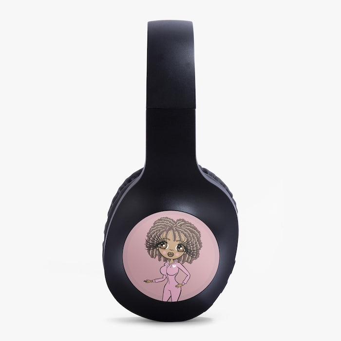 ClaireaBella Pink Personalised Wireless Headphones - Image 3