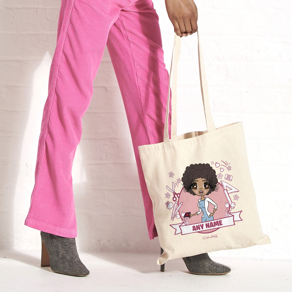 ClaireaBella Teacher Icons Canvas Bag - Image 1