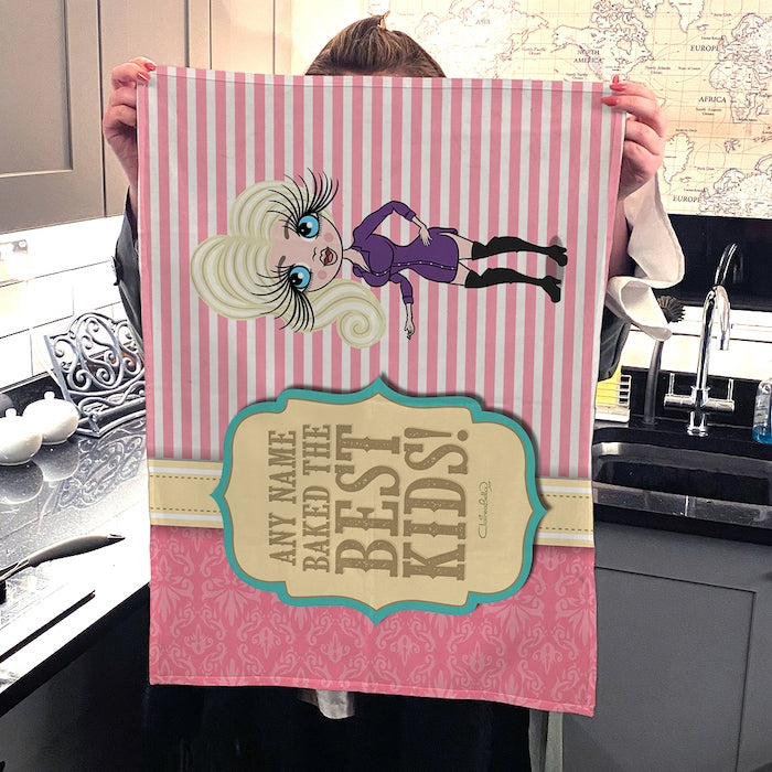 ClaireaBella Personalised Baked Kids Tea Towel - Image 2