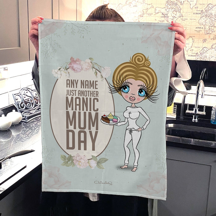 ClaireaBella Personalised Portrait Manic MumDay Tea Towel - Image 4