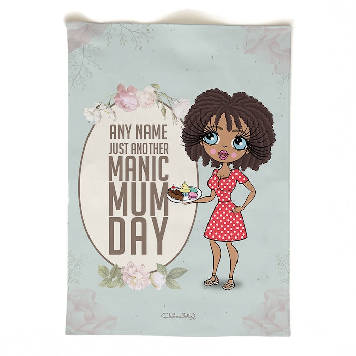 ClaireaBella Personalised Portrait Manic MumDay Tea Towel - Image 2