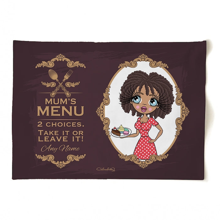 ClaireaBella Personalised Mum's Menu Tea Towel - Image 4