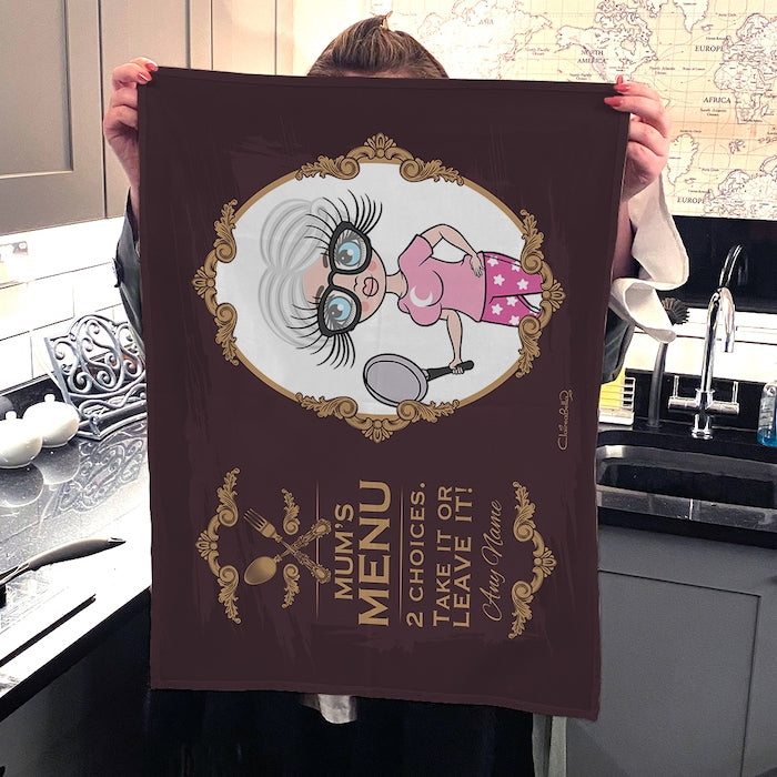 ClaireaBella Personalised Mum's Menu Tea Towel - Image 2