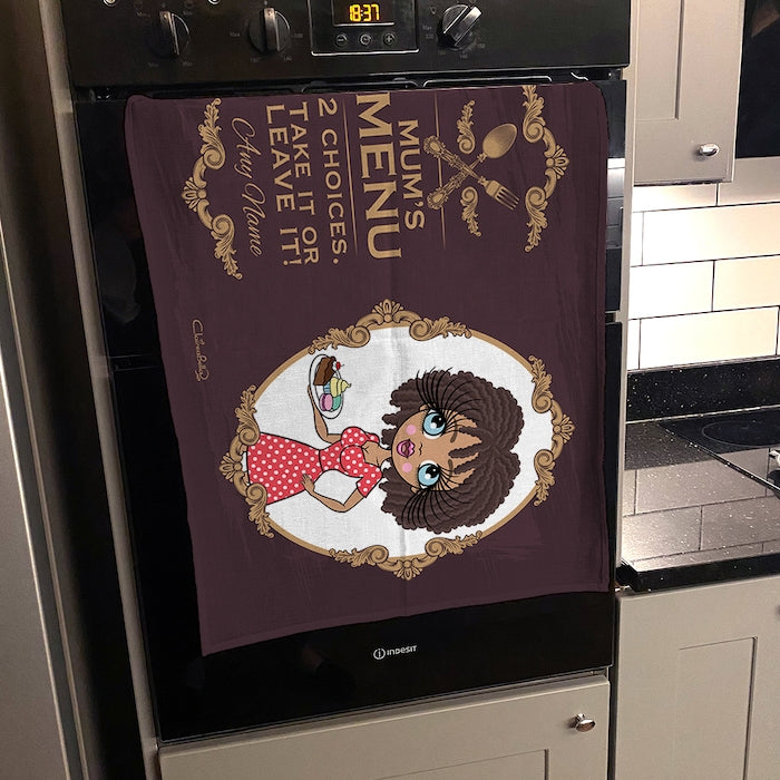 ClaireaBella Personalised Mum's Menu Tea Towel - Image 3