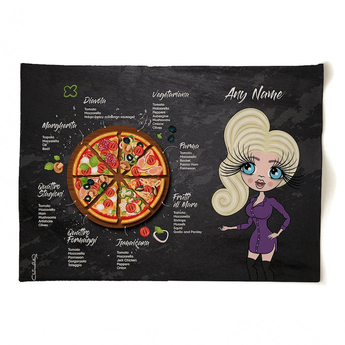 ClaireaBella Personalised Pizza Selection Tea Towel - Image 4