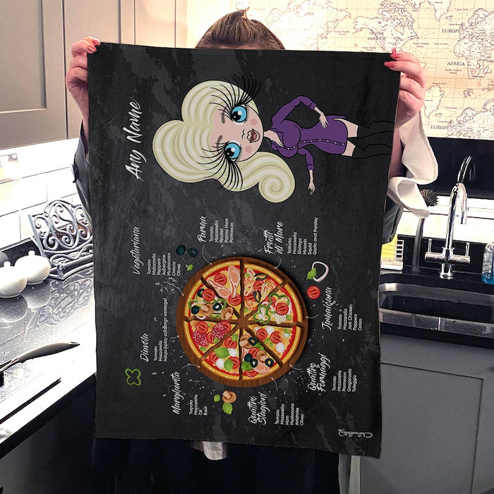 ClaireaBella Personalised Pizza Selection Tea Towel - Image 3