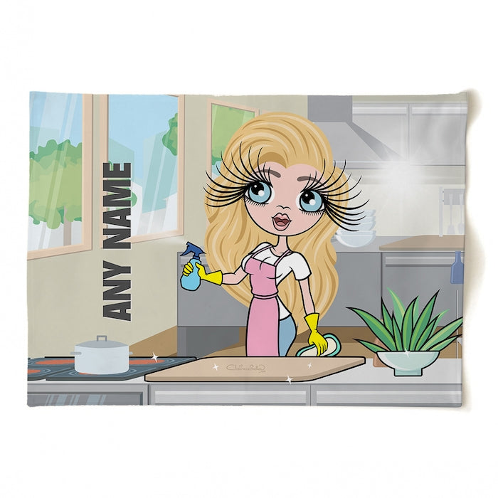 ClaireaBella Personalised Queen Of Clean Tea Towel - Image 1