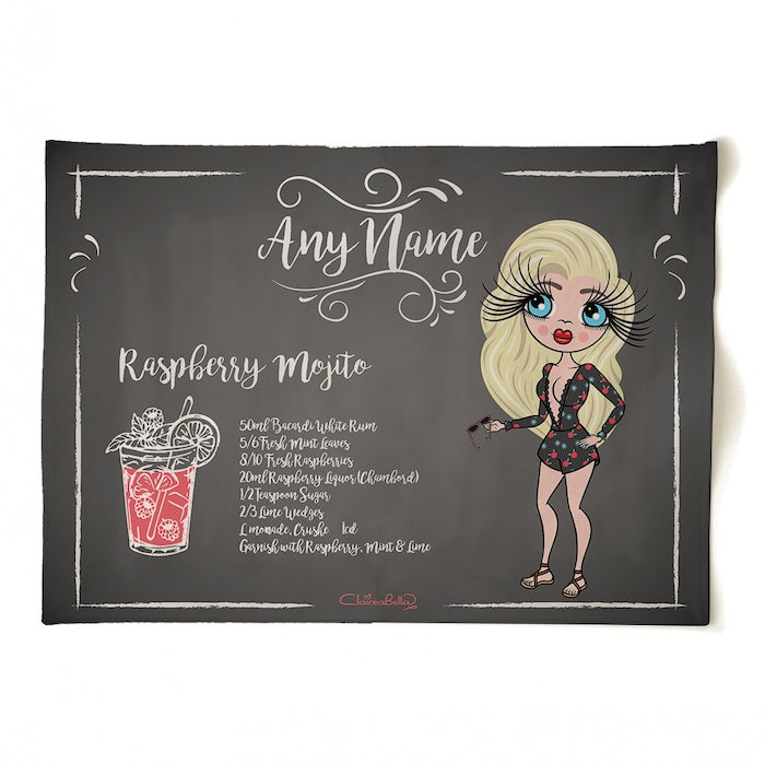 ClaireaBella Personalised Raspberry Mojito Tea Towel - Image 1