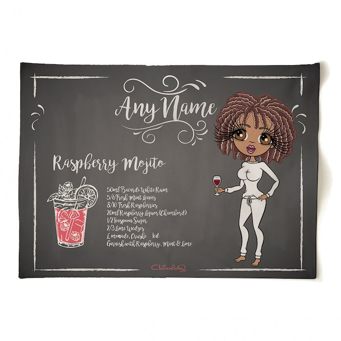 ClaireaBella Personalised Raspberry Mojito Tea Towel - Image 3
