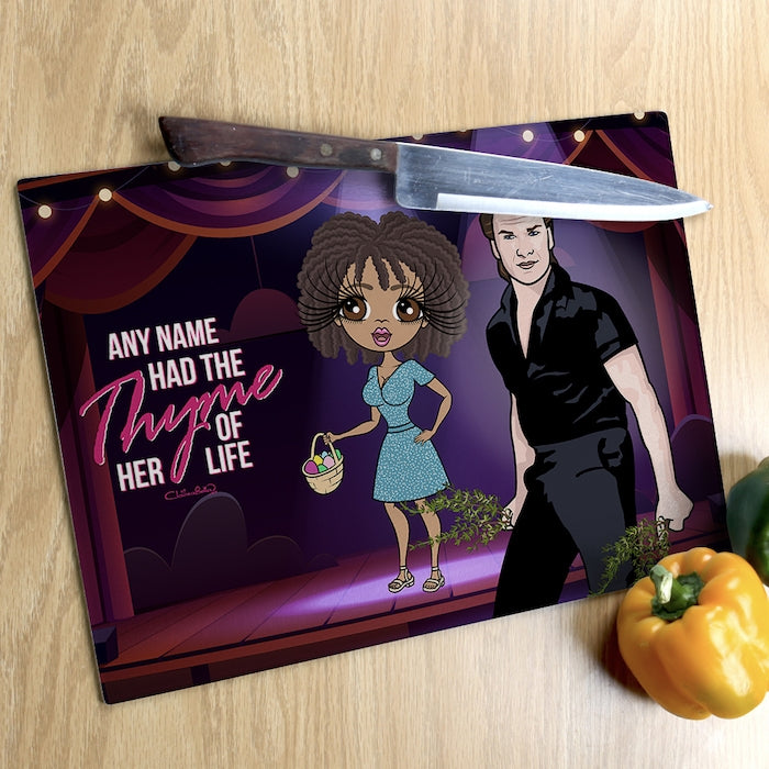 ClaireaBella Glass Chopping Board - Thyme Of Your Life - Image 3