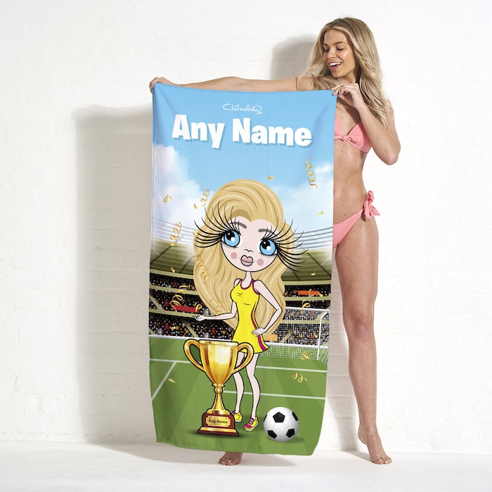 ClaireaBella Football Champ Beach Towel - Image 1