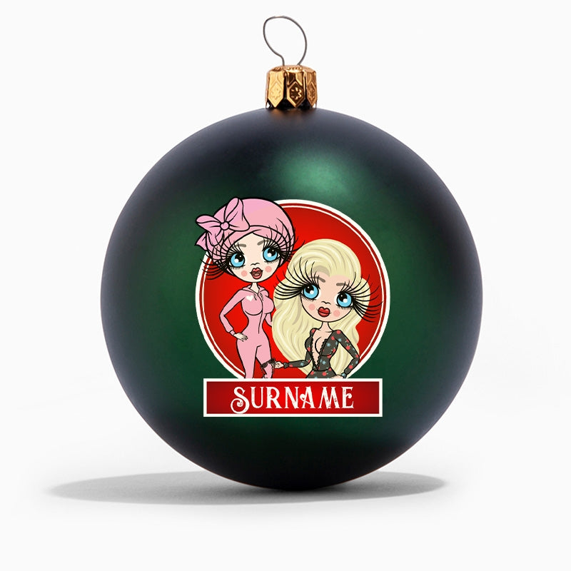 ClaireaBella and Her Personalised Shatterproof Bauble - Image 1