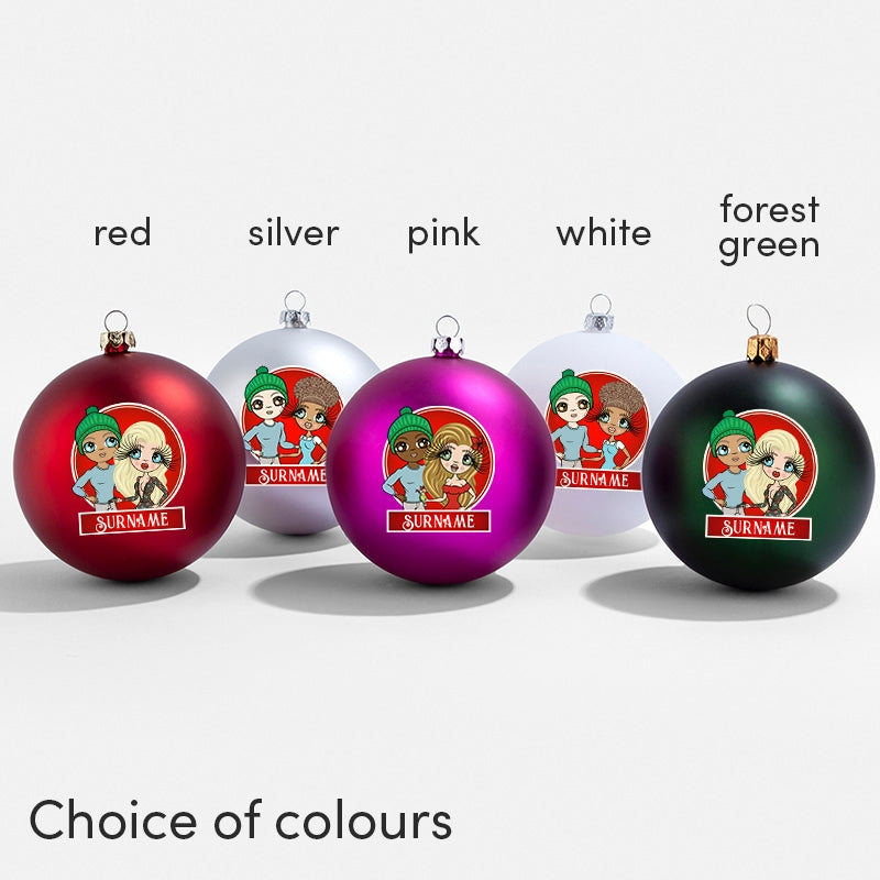 ClaireaBella Couples Personalised Shatterproof Bauble - Image 3