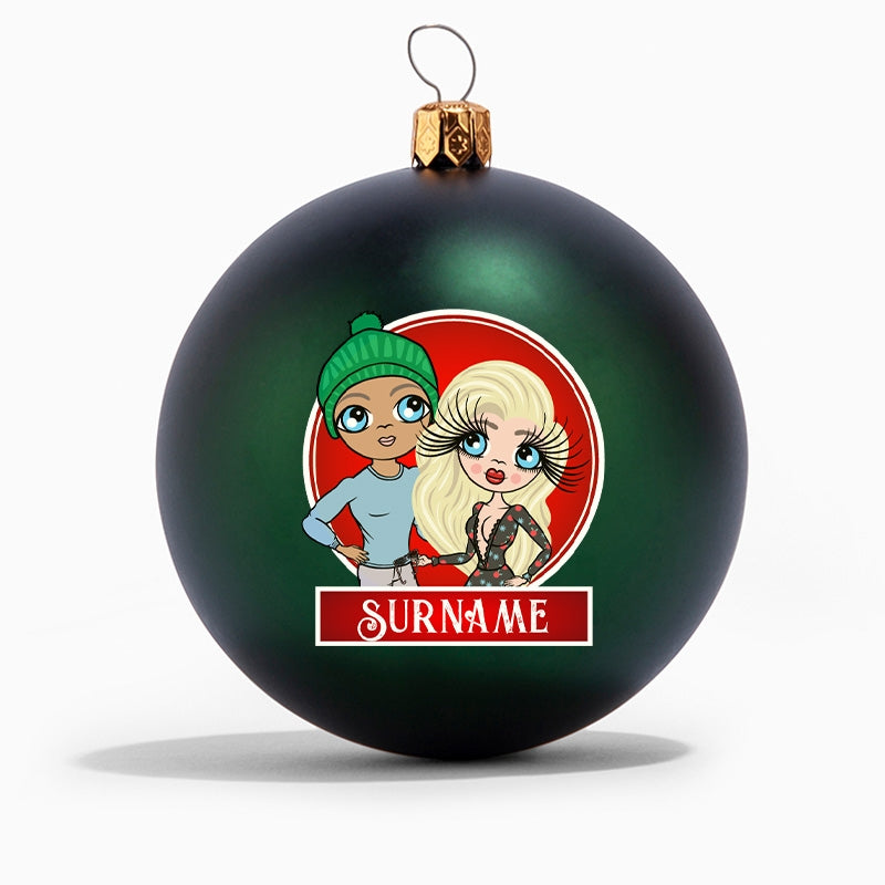 ClaireaBella Couples Personalised Shatterproof Bauble - Image 5