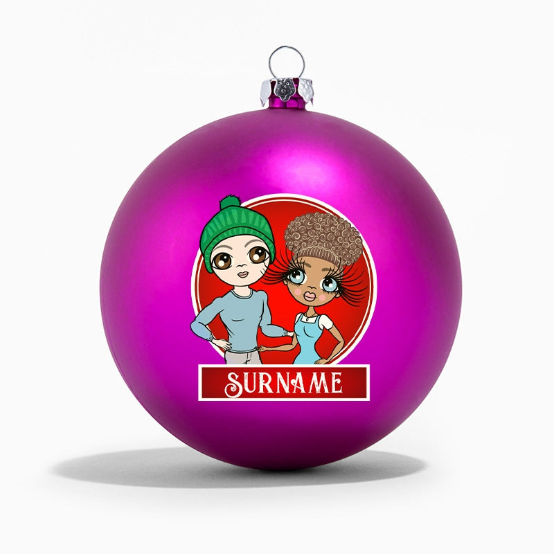 ClaireaBella Couples Personalised Shatterproof Bauble - Image 6