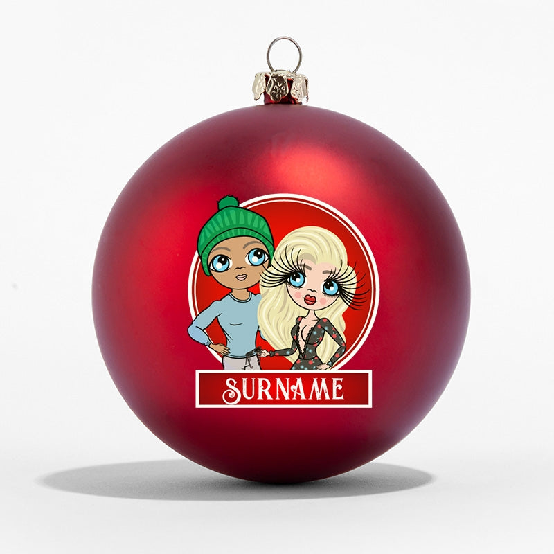 ClaireaBella Couples Personalised Shatterproof Bauble - Image 7