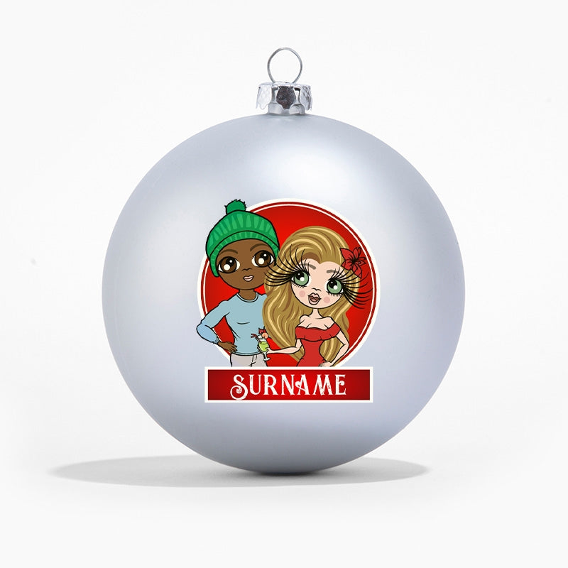 ClaireaBella Couples Personalised Shatterproof Bauble - Image 4