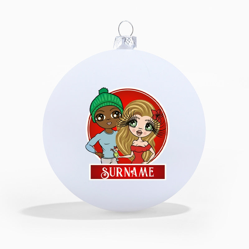 ClaireaBella Couples Personalised Shatterproof Bauble - Image 1