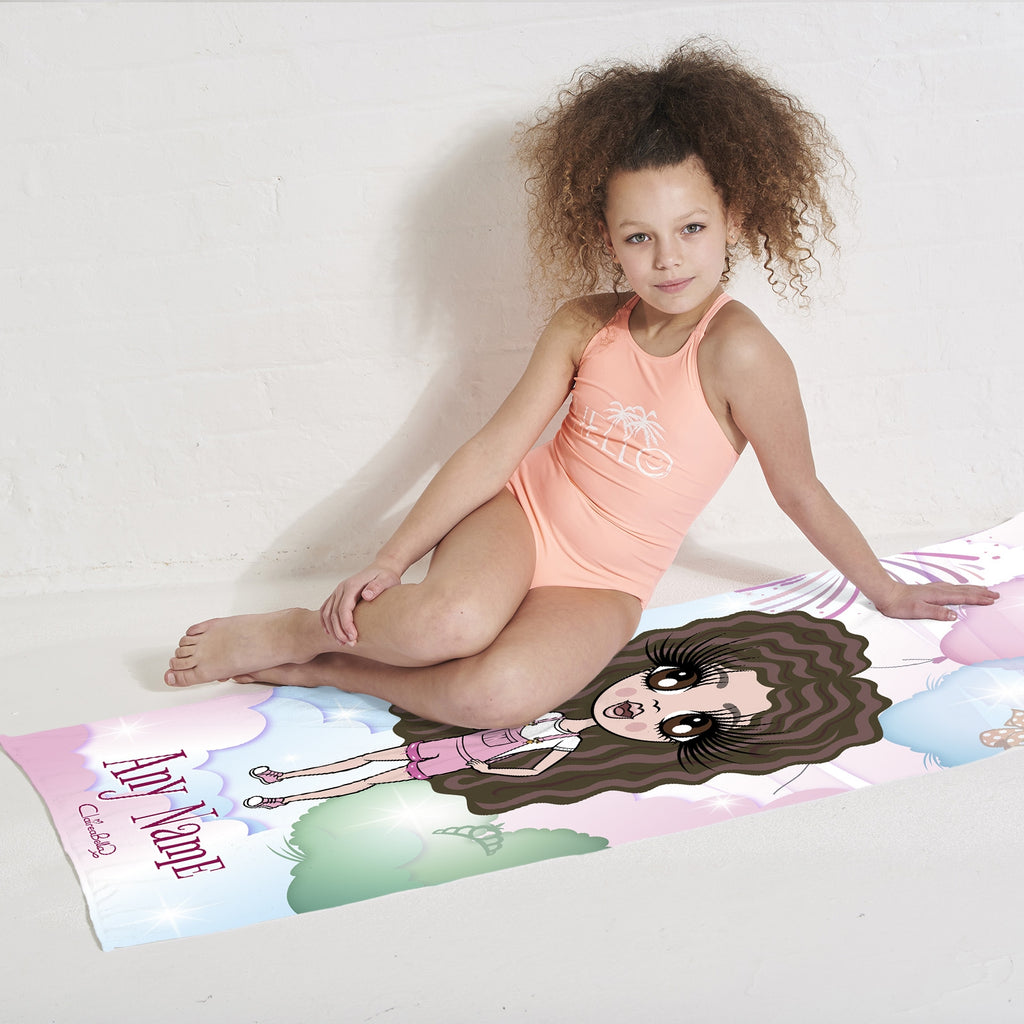 ClaireaBella Girls Magical Balloon Beach Towel - Image 4