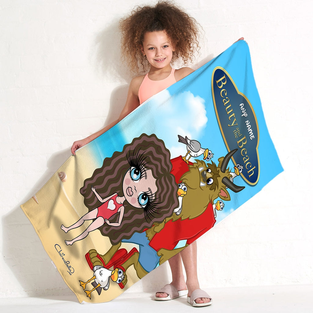 ClaireaBella Girls Beauty & The Beach Towel - Image 2