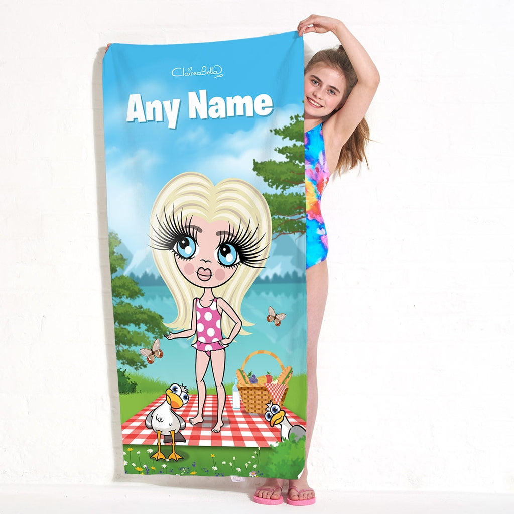 ClaireaBella Girls Picnic Fun Beach Towel - Image 3