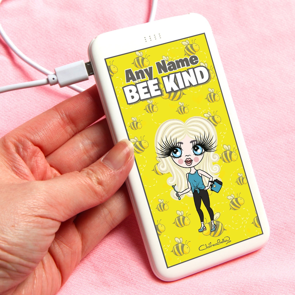 ClaireaBella Girls Bees Portable Power Bank - Image 1