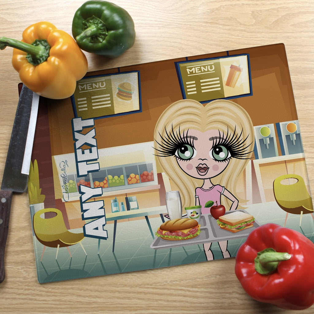 ClaireaBella Girls Landscape Glass Chopping Board - Canteen - Image 1