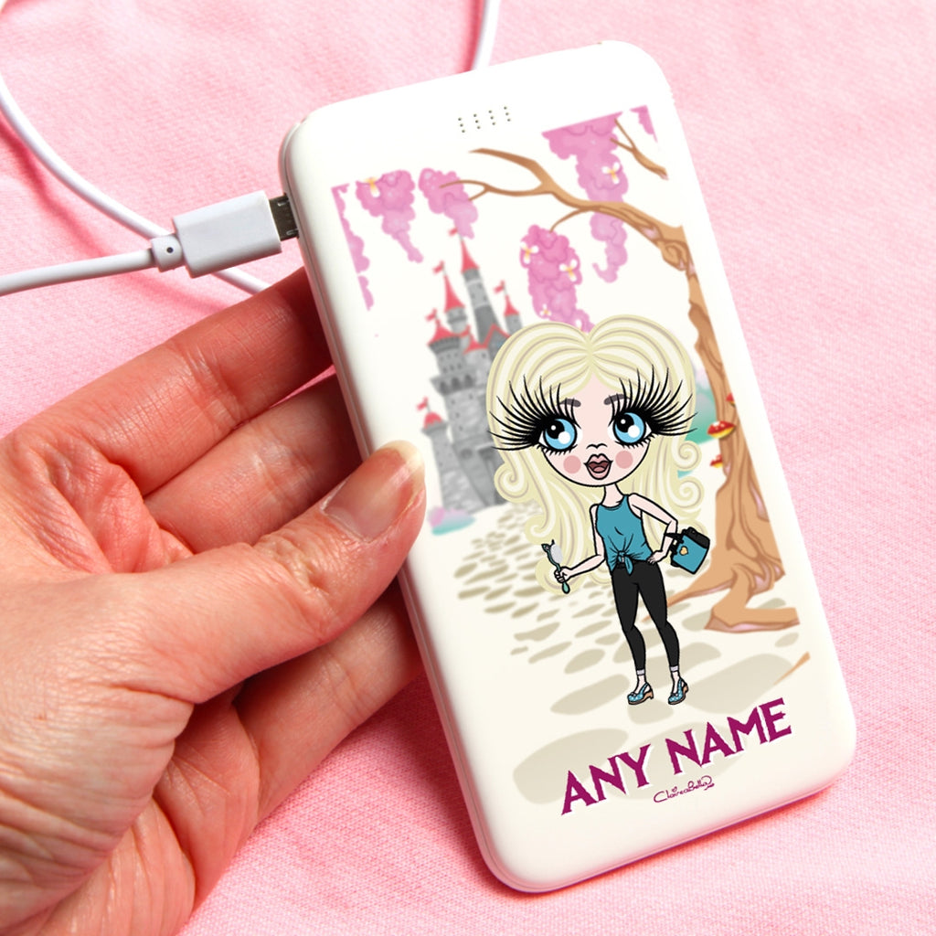 ClaireaBella Girls Enchanted Castle Portable Power Bank - Image 1