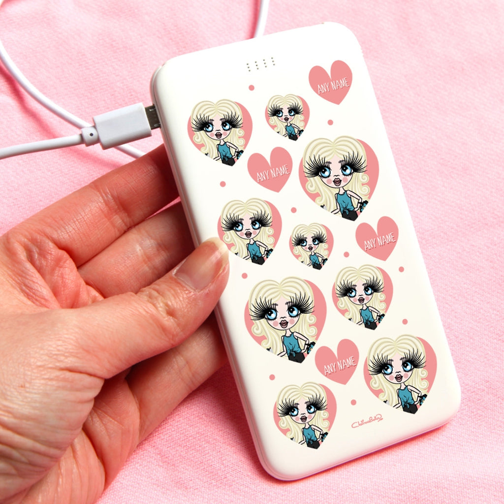 ClaireaBella Girls Emoji Portable Power Bank - Image 1