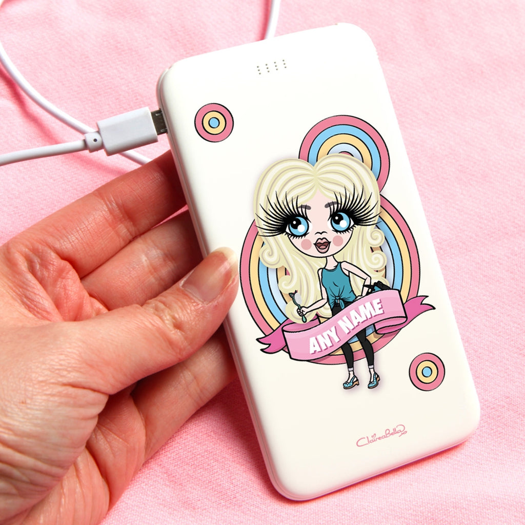 ClaireaBella Girls Circle Fun Portable Power Bank - Image 1