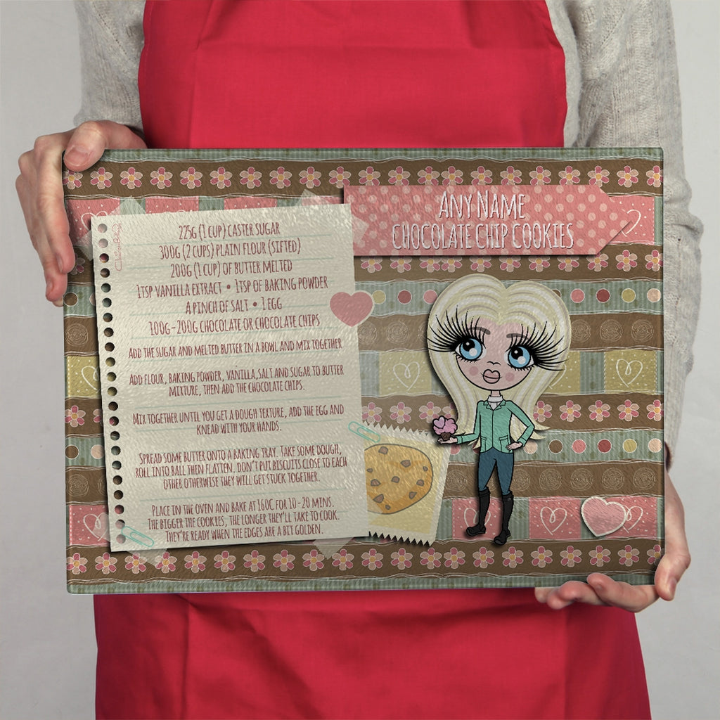 ClaireaBella Girls Landscape Glass Chopping Board - Cookie - Image 1