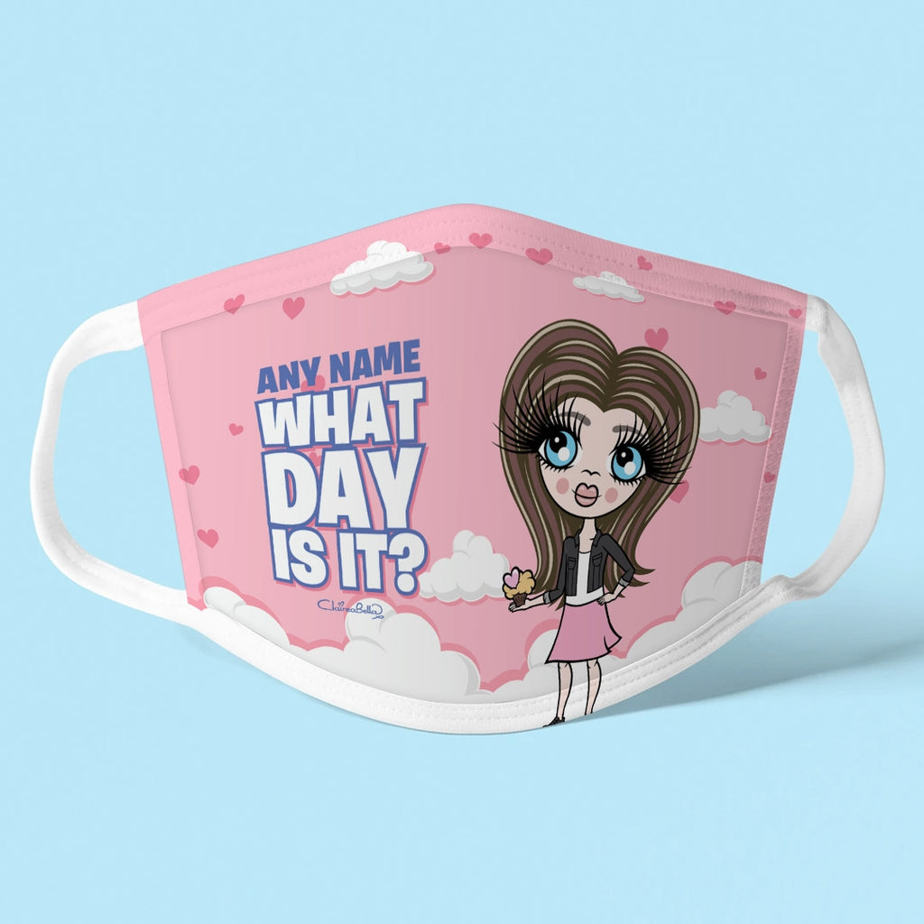 ClaireaBella Girls Personalised Day Reusable Face Covering - Image 1