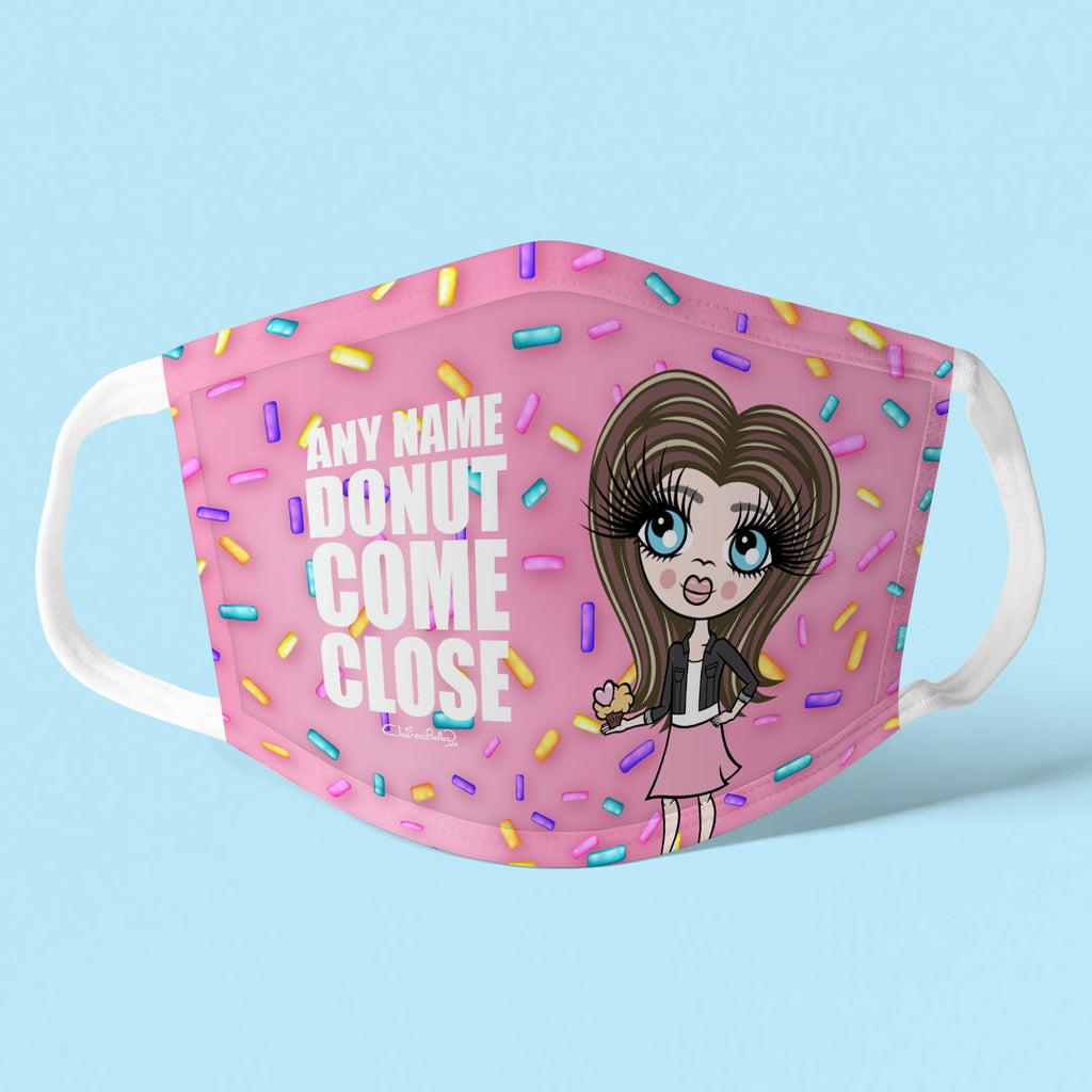 ClaireaBella Girls Personalised Donut Reusable Face Covering - Image 1