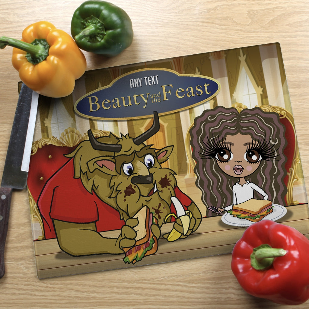 ClaireaBella Girls Landscape Glass Chopping Board - Feast - Image 2