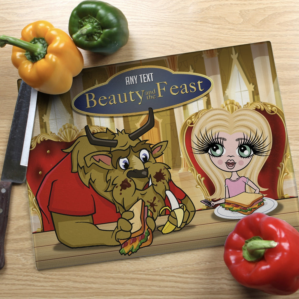 ClaireaBella Girls Landscape Glass Chopping Board - Feast - Image 1