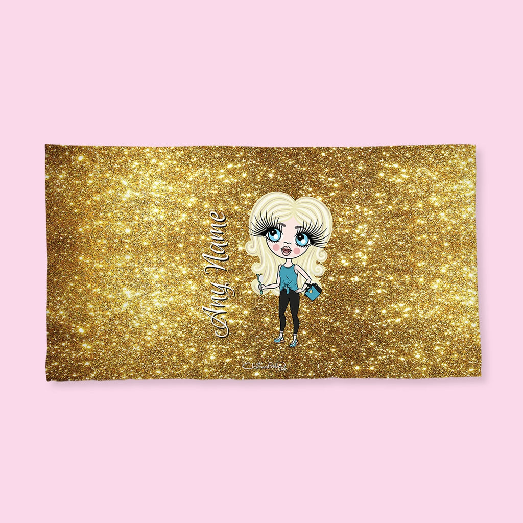 ClaireaBella Girls Gold Glitter Effect Hand Towel - Image 4